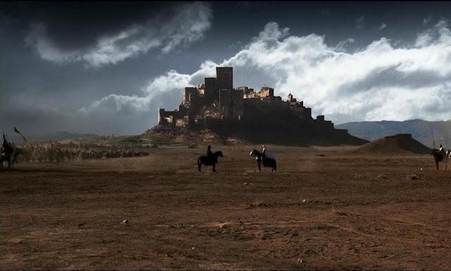 Una de las escenas más famosas de la película, Balduino IV hablando con Saladino para evitar la guerra