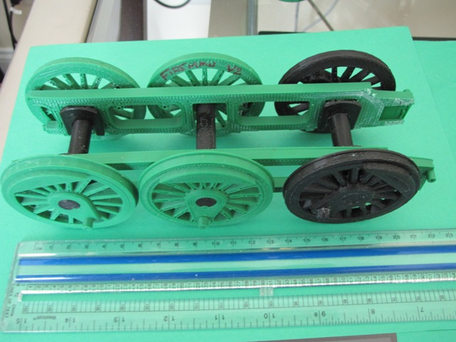 Model Locomotive with 3D Print Technology: Gluing Wheels and