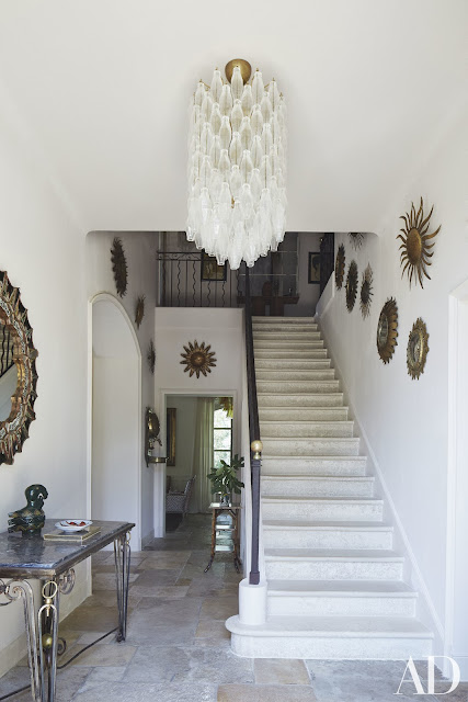 Magnificent entry in French Country Home in Provence at estate of Frederic Fekkai seen on Hello Lovely Studio