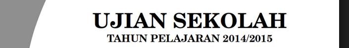 Latihan Soal ujian UN bahasa Indonesia smp kelas VII