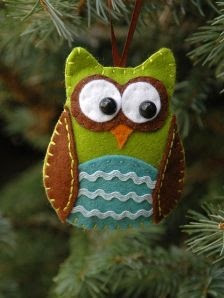 Free felt ornament owl waldorf inpired naturetable