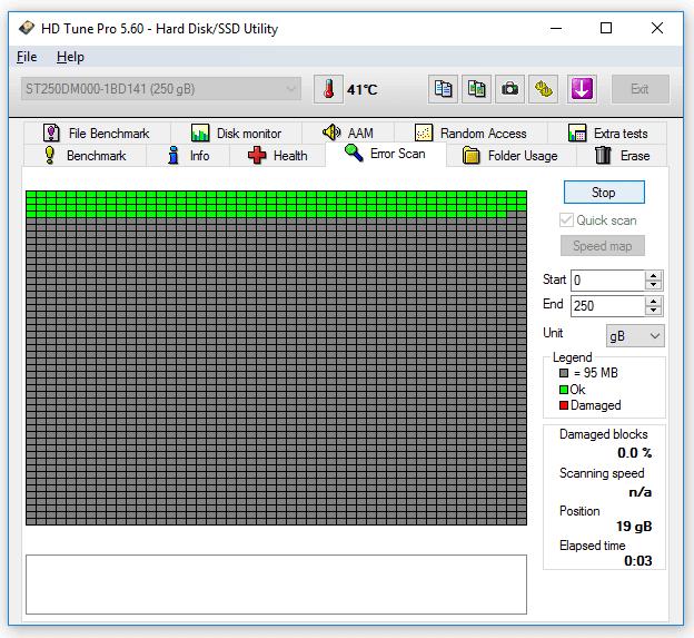 Cek harddisk error