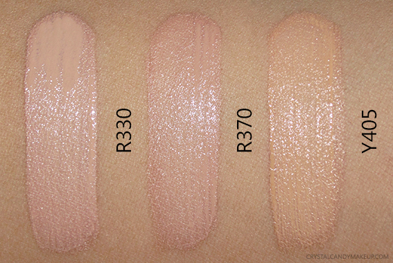 Make Up For Ever Water Blend Face Body Foundation R330 R370 Y405 Review Photos Swatches MUFE MAC Equivalents NC30 NW25 NW30 NW35