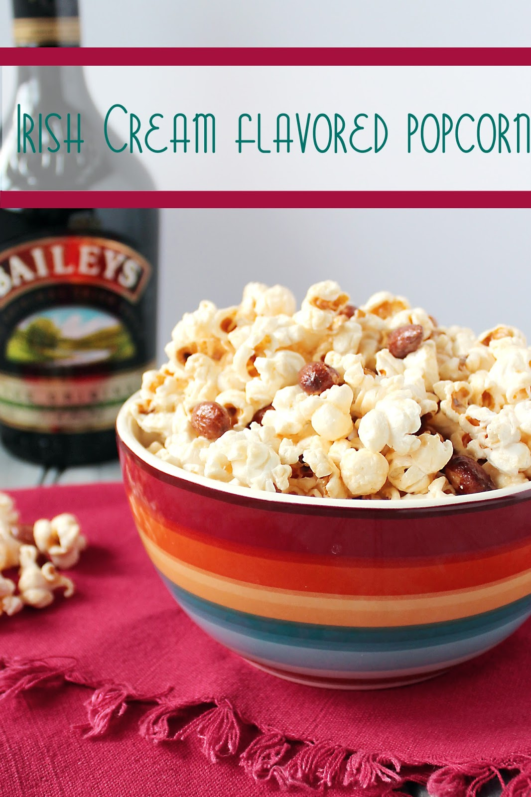 Irish Cream Flavored Popcorn | Cooking on the Front Burner