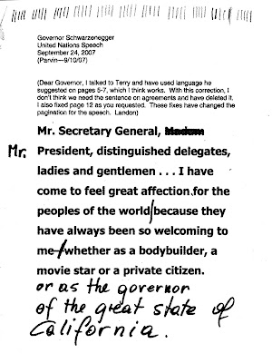 Governor Schwarzenegger United Nations Speech