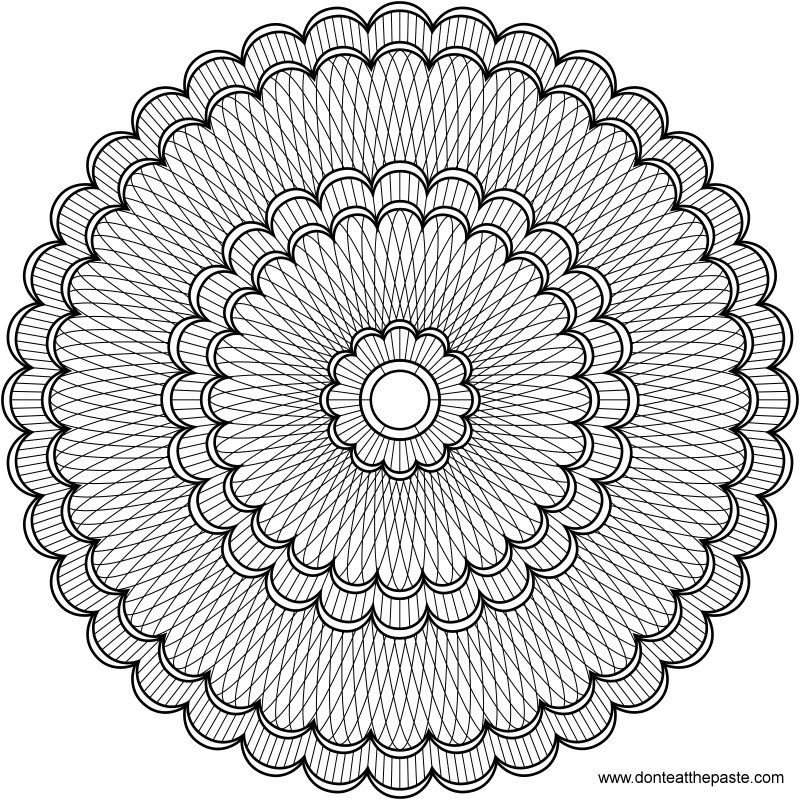intricate mandala coloring pages - photo#10