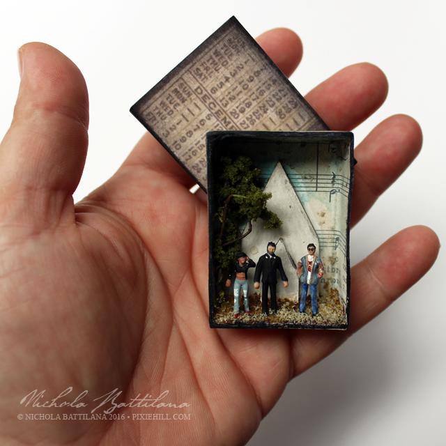 Pocket Preacher Matchbox Diorama w/ Tulip, Jesse, Cassidy - Nichola Battilana