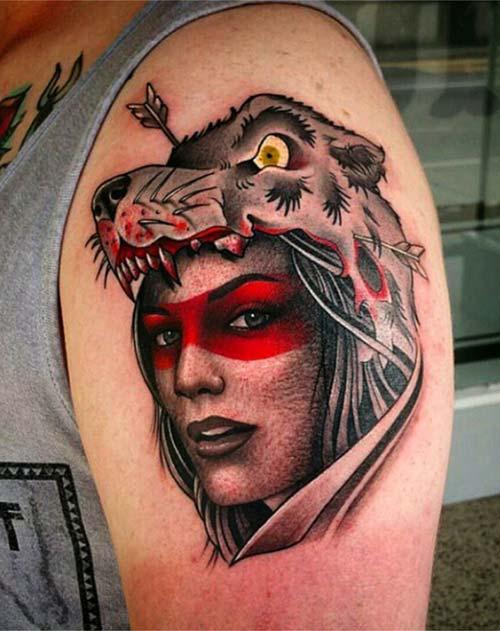 üst kol erkek dövmesi upper arm man tattoo