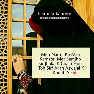 Meri Narmi Ko Meri Kamzori Mat Samjhi Sirf Jhuk K Chalti Hon To Sirf Allah Azwajal K Khoff Se - Meri Diary Se