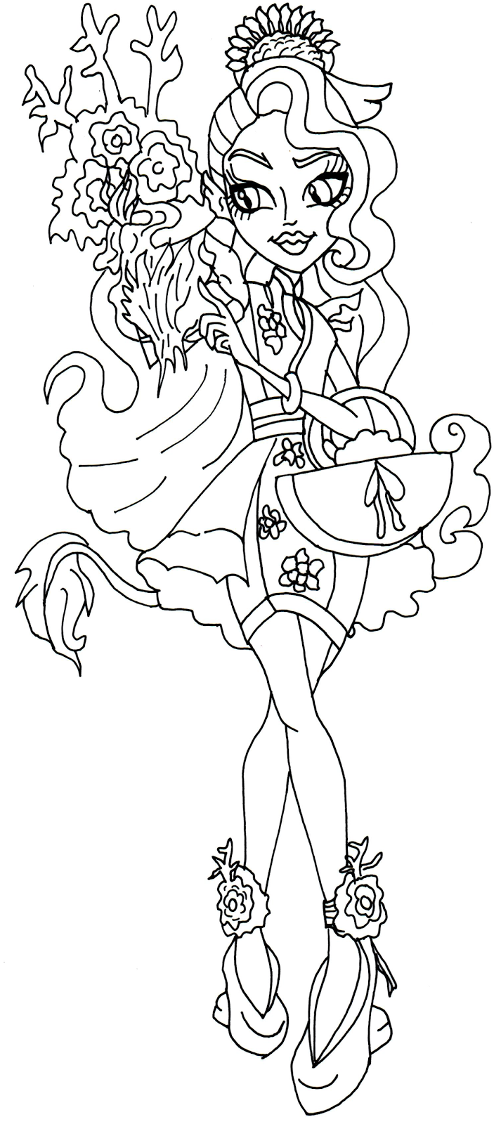 easy monster high coloring pages - photo#36