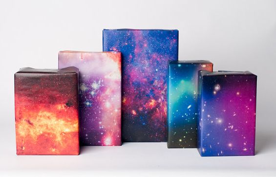 Galaxy wrapping paper from Normans Printery
