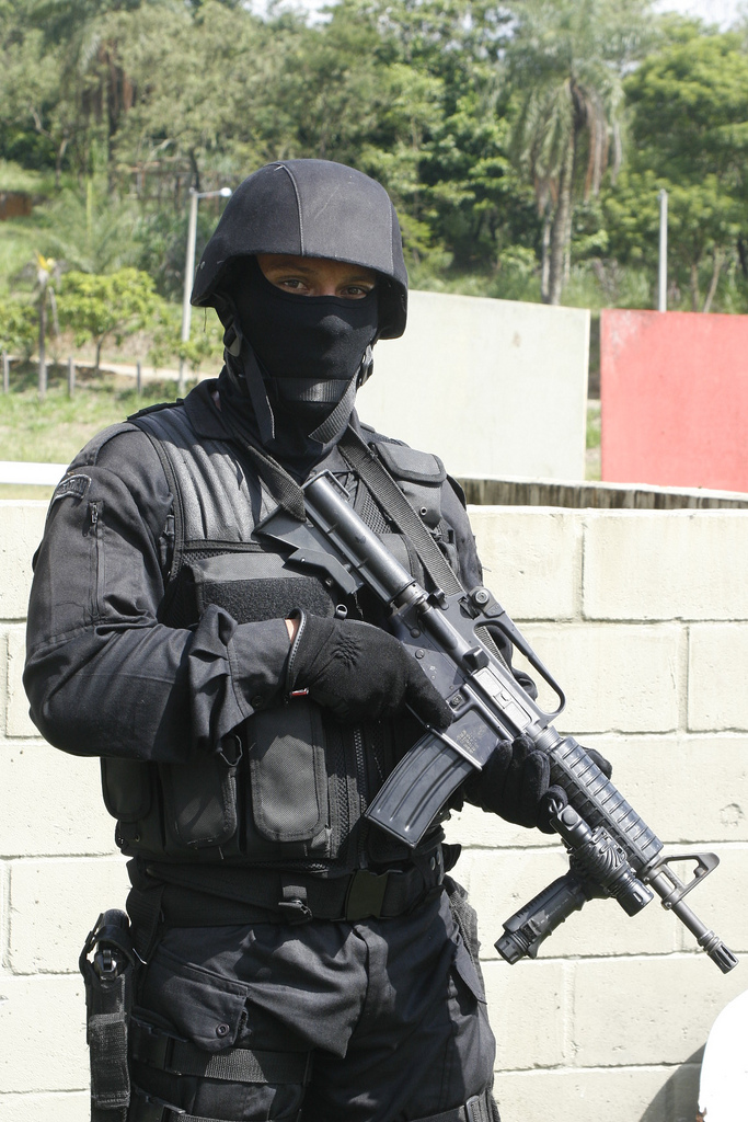 Soldier of BOPE ( Special Brazilian Police ) Elite Police - army memo