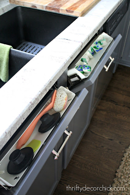 Hidden storage in the kitchen for small stuff