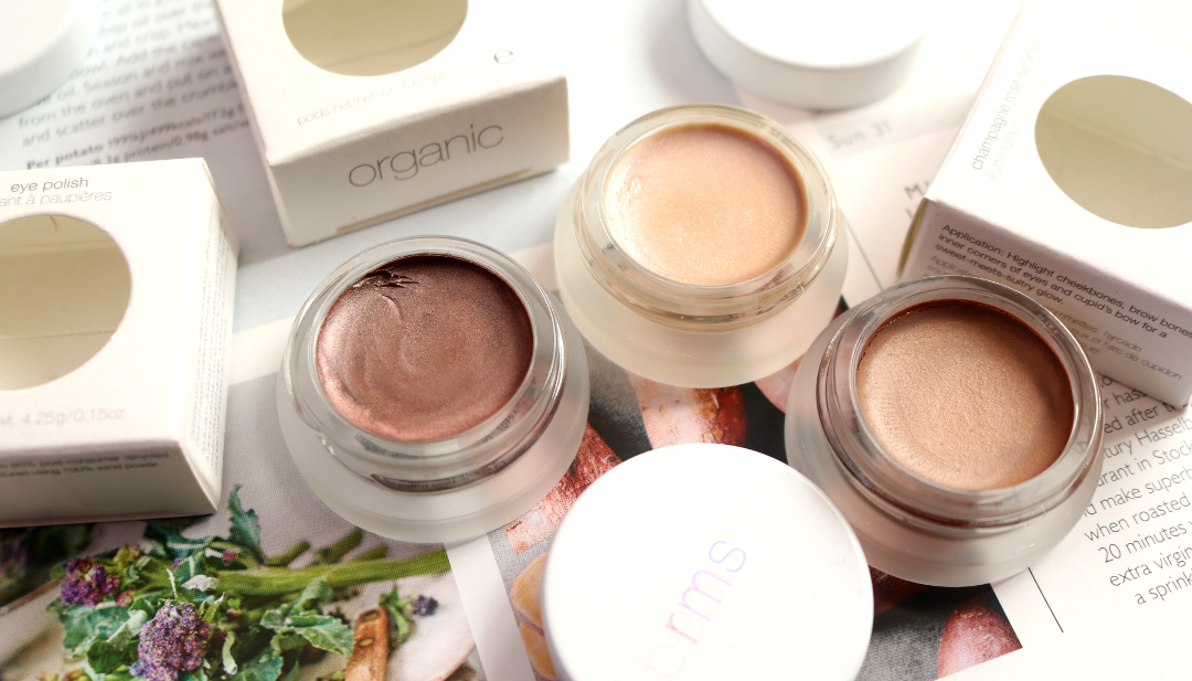 RMS - Buruti Bronzer, Eye Polish in Magnetic and Luminizer in Champagne Rosé - Review & Swatches