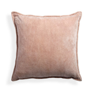 Arhaus Stone Washed Velvet Square Pillow