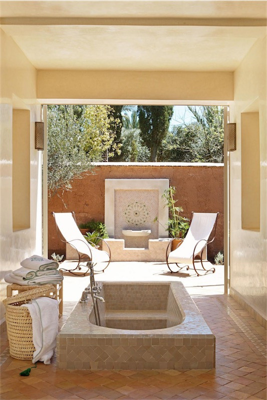 patio arabe casa en Marrakech chicanddeco