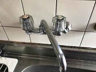 混合水栓を取替えました。