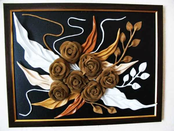 Handmade Decoration From Recycling Leather Scrap Creative Art And