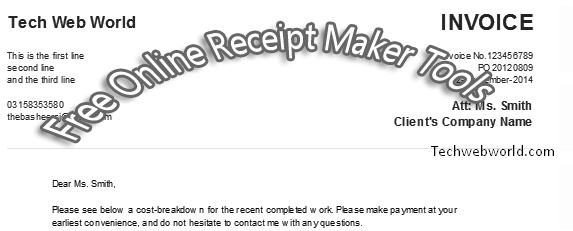 online receipt creator