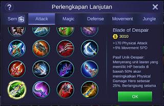 Blade of Despair Mobile Legends
