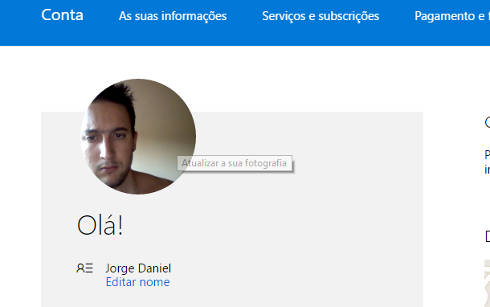 Como mudar foto do perfil do Outlook