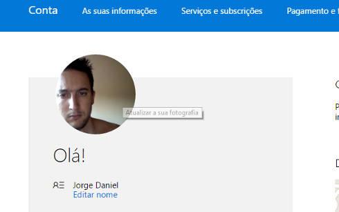 Como mudar foto do perfil do Outlook