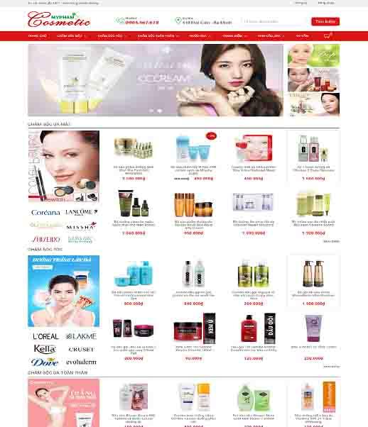 Theme Blogspot mỹ phẩm Cosmetic