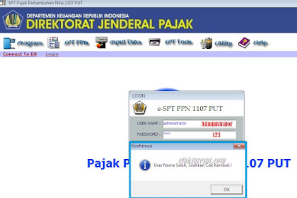 Username dan Password eSPT PPN 1107 PUT