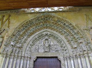 Navarra; Nafarroa; Olite; Iglesia de santa María la Real; Pórtico
