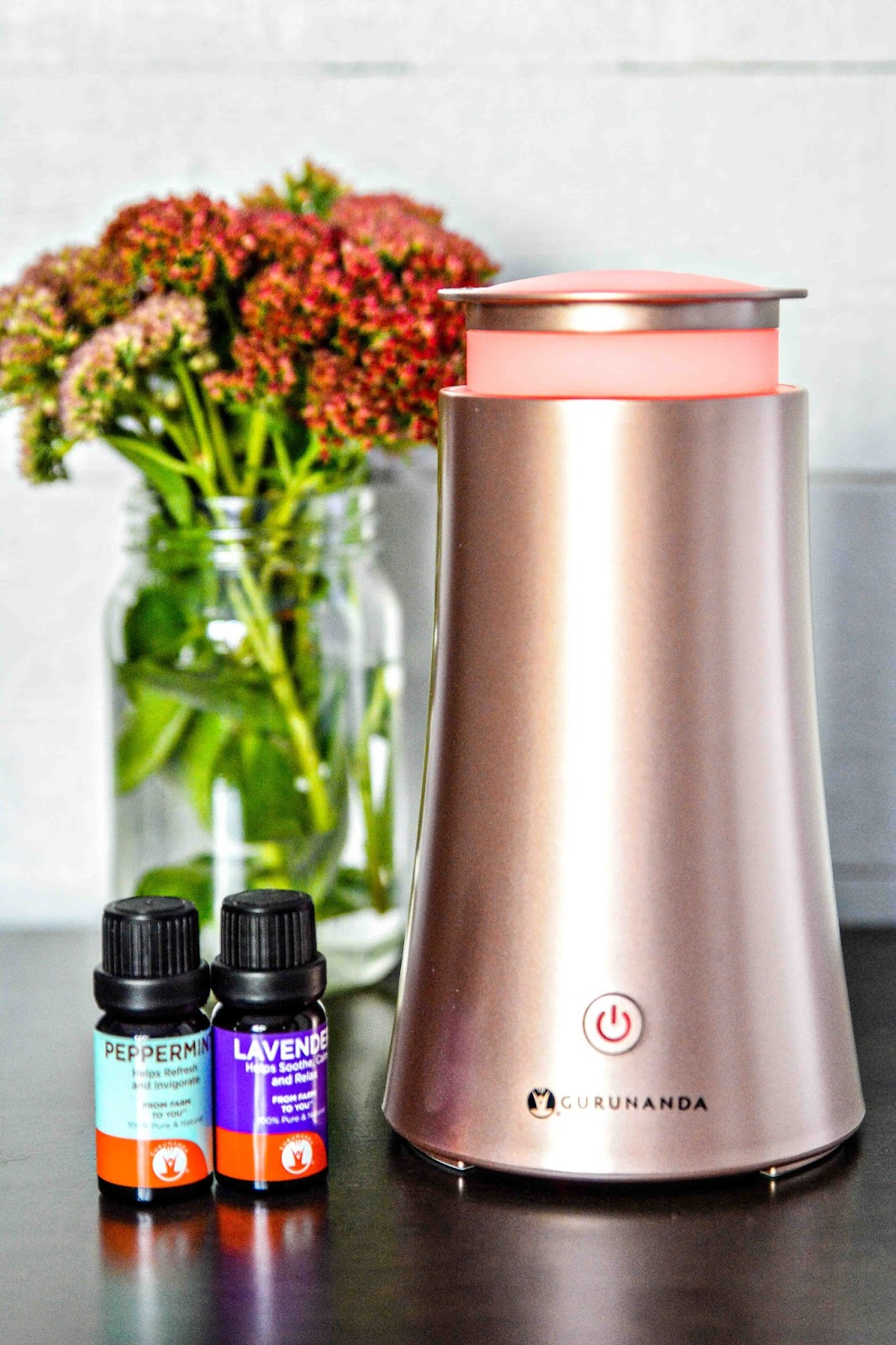 GuruNanda Rose Gold Tower Oil Diffuser