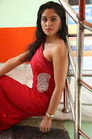 Actress Zahida Sam Latest Stills in Red Long Dress at Badragiri Movie Opening .COM 0120.JPG