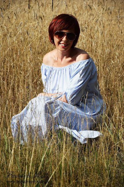 ZAFUL - hiszpanka, niebieska sukienka/dress.