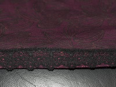 DIY Refashioning A Boring Shirt With Black Paint And Lace Ribbon Sewing