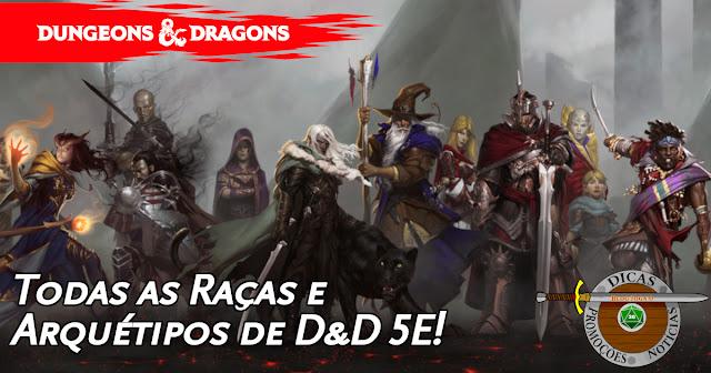 Lista de Raças D&D 5ª Edição