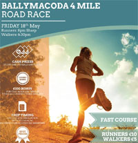 4 mile race in E Cork...Fri 18th May 2018