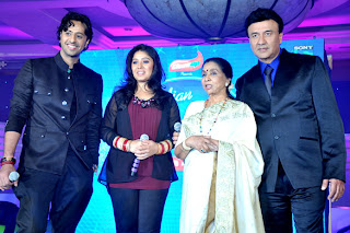 Singing Legend Asha Bhosle at launch of Indian Idol 6 session on Sony TV