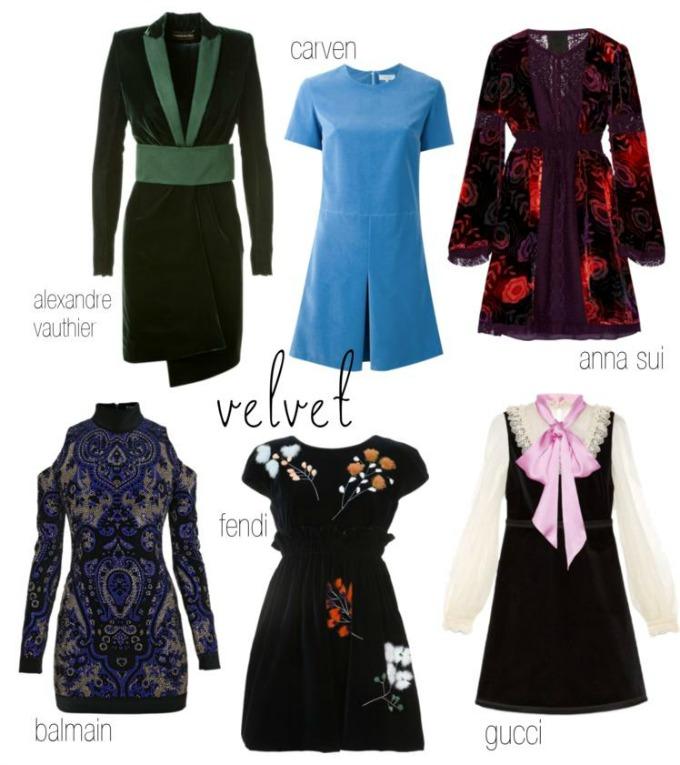 vestidos de terciopelo fendi gucci