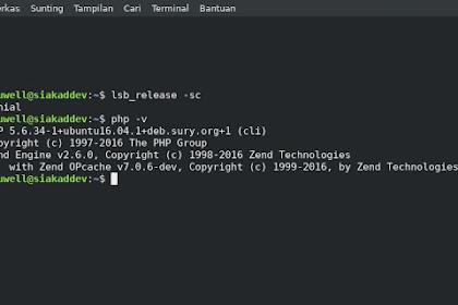Install PHP 5.6 di Linux Ubuntu 16.04 (LTS)