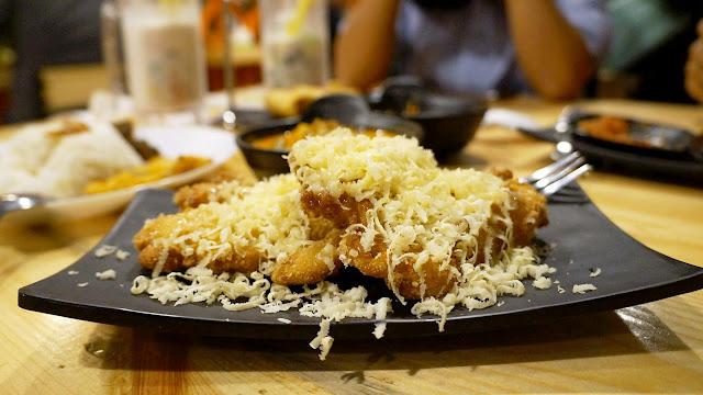 Pisang goreng keju ala Saung Kedah