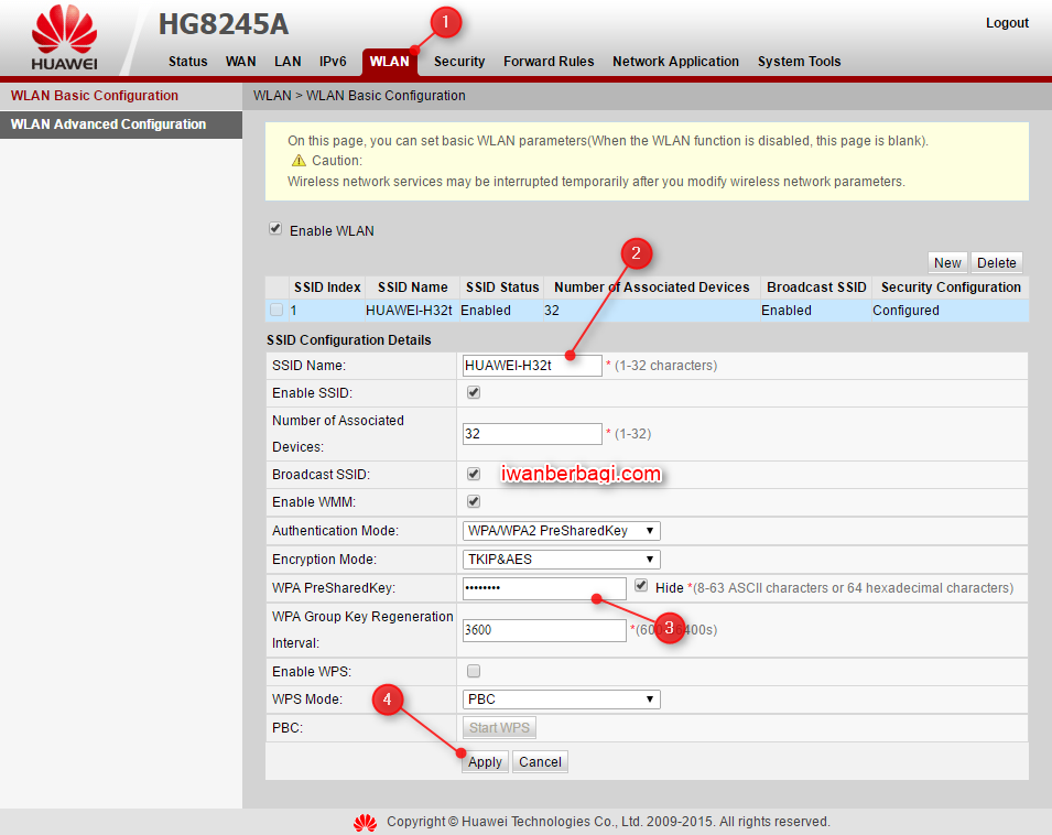 Cara Mudah Setting Wifi atau SSID ONT Huawei HG8245A