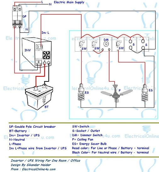 ups wiring diagram ups image wiring diagram ups inverter wiring diagram for one room office nowadays in on ups wiring diagram