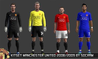 PES 2013: Kitset Retrô Manchester United 2007/08