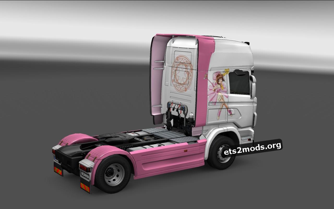 Card Captor Sakura Skin for Scania R