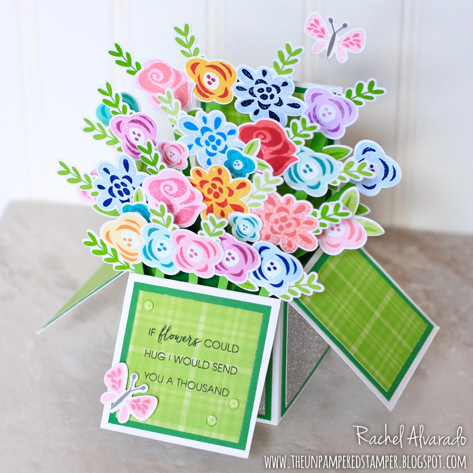 The Unpampered Stamper Birthday Box Card Bouquet Of Flowers