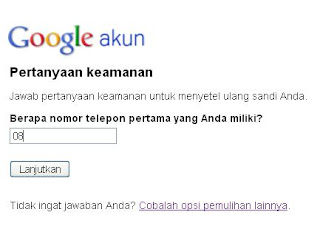 buat Password gmail baru