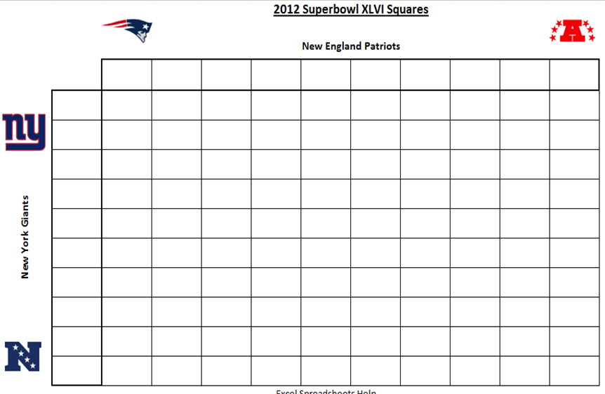 free super bowl pool templates - super bowl pool squares template new calendar template site