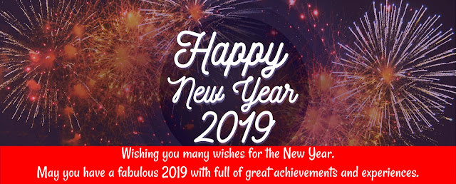 Happy New Year 2019 cover facebook