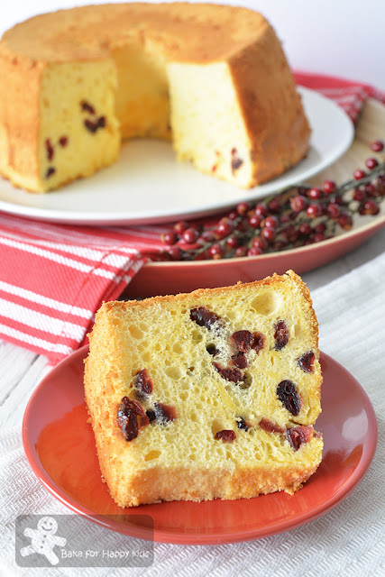 ultra moist soft cranberry yogurt chiffon cake