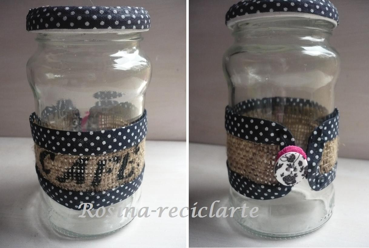 Reciclarte va de frascos y mimos for Reciclar frascos de vidrio de cafe