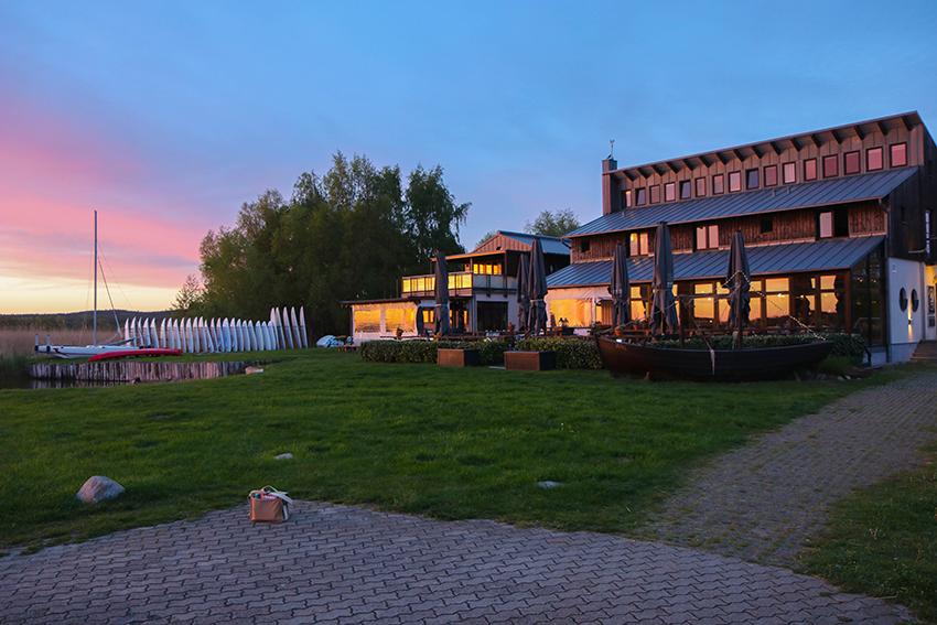Sonnenuntergang beim Cafè Knatter